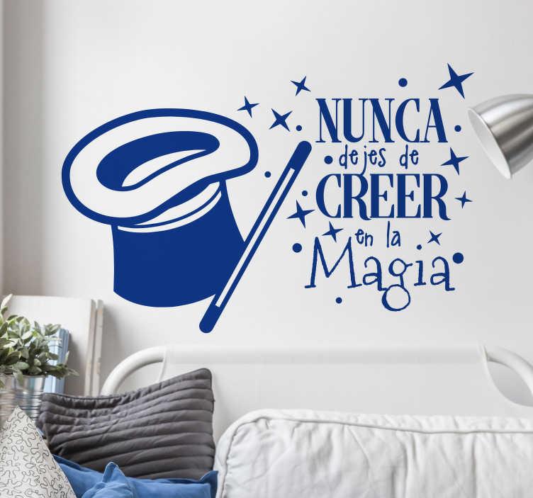 TenVinilo. Vinilos de frases magia. Murales y vinilos con diseño exclusivo, para amantes de lo mágico, con un texto positivo, ideal para el cuarto de los más jóvenes de casa.