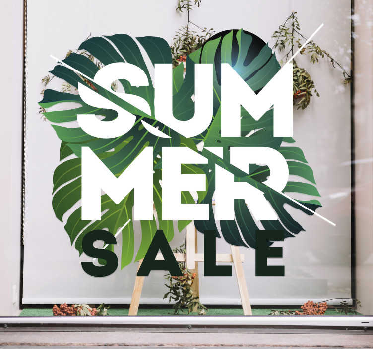 TenStickers. Summer Sale Decorative Sticker. This eye-catching window sticker is great for shops who want to advertise their summer sale. The incredible design to the sale sticker.