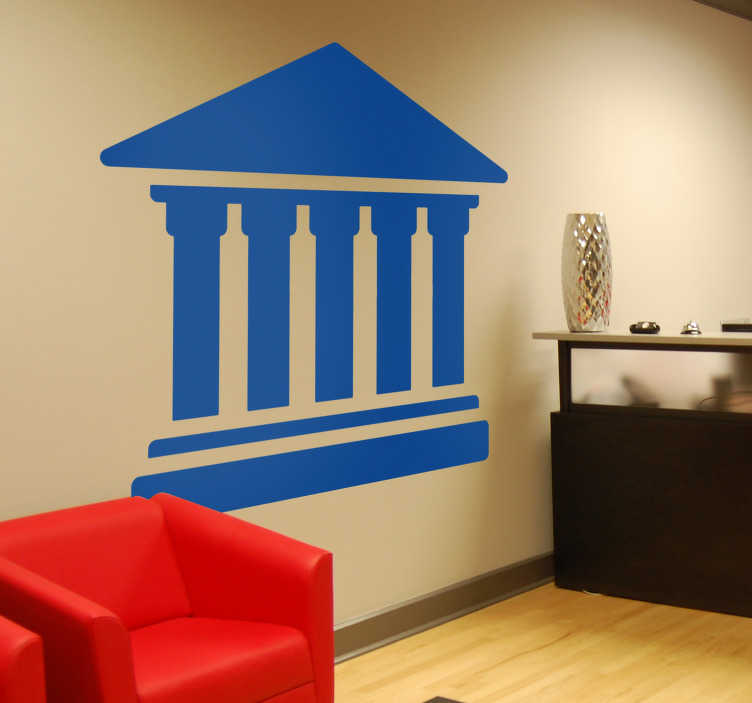 TenStickers. Vinil decorativo silhueta tribunal. Decore as paredes do seu escritório de advocacia com este autocolante parede com uma imagem de uma silhueta do tribunal.