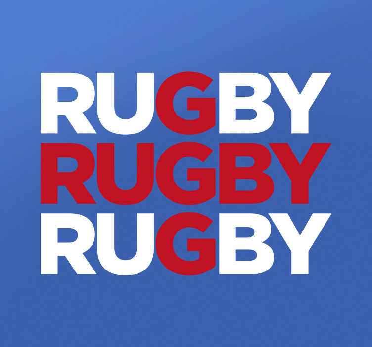 TenStickers. England Flag Rugby Wall Sticker. Rugby Wall Stickers - If you follow the England rugby team, show your support for them with this England rugby sticker. The sticker resembles an England flag while also showing your love for the sport.