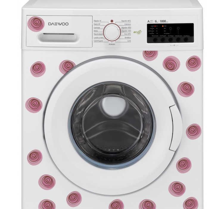 TenVinilo. Vinilo para lavadora adorno floral. Lámina de pegatinas de flores rosas ideales para decorar los muebles, paredes o electrodomésticos de tu casa de una forma sencilla y barata.