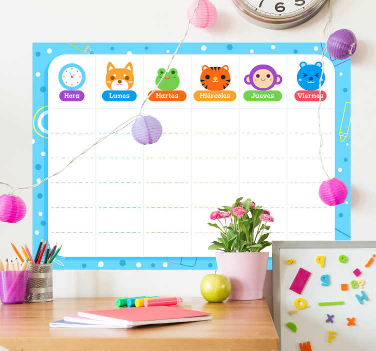 TenStickers. Childrens whiteboard sticker to write on. Children's whiteboard stickers to write on with a marker, ideal to start planning their school tasks, excursions! Zero residue upon removal.