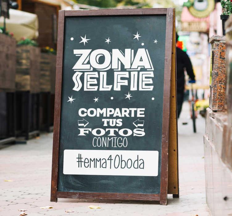 TenVinilo. Vinilo decorativo zona selfie. ¿Vas a celebrar una boda o cumpleaños? ¿Quieres crear una zona donde los invitados se hagan fotos? Ahora puedes hacerlo fácilmente con este vinilo decorativo.