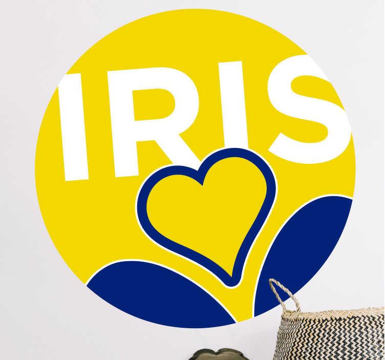 TenStickers. Sticker Maison Fête de l'iris. Cet autocollant d'événement s'adresse à tous les amoureux de la fête annuel de l'Iris, en Belgique ! Idéal pour une déco d'intérieur originale !