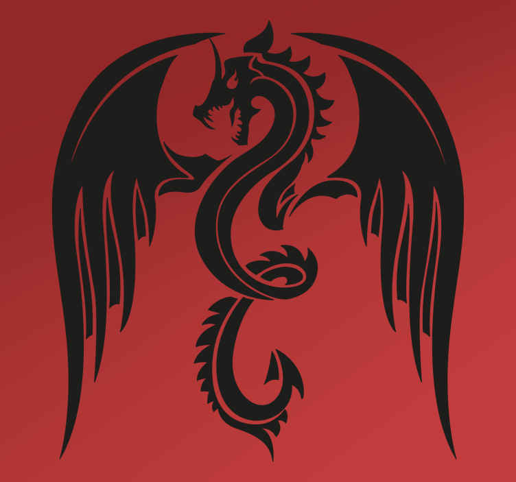 TenStickers. Dragon Car Sticker. Add the mythical dragon to your car with this fantastic vehicle sticker! Zero residue upon removal.