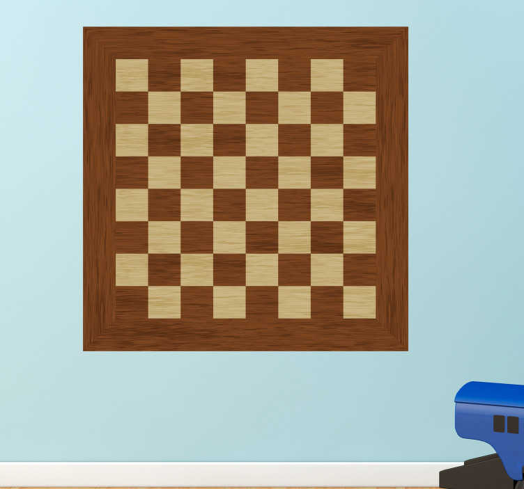 TenStickers. Chessboard Wall Sticker. Decorate your wall with a chess board thanks to this magnificent sticker! Available in 50 colours.
