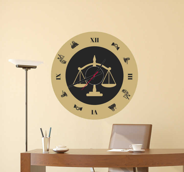 TenStickers. Old Fashioned Clock Sticker. Decorate your wall with this superbly old fashioned wall clock sticker! +10,000 satisfied customers. Perfect for any room