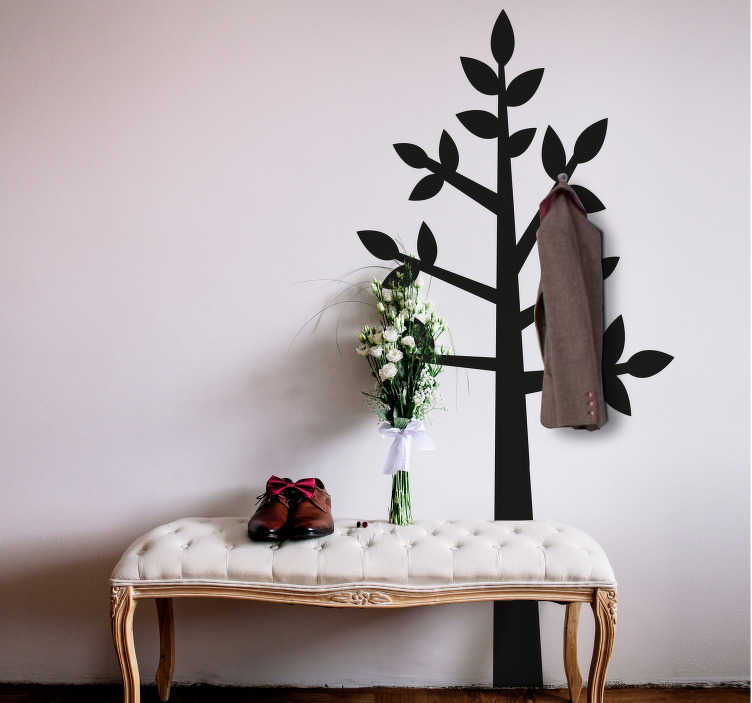 TenStickers. Tree Hanger Wall Sticker. Make use of that spare wall in your home with this superb wall hanger sticker! Easy to apply.