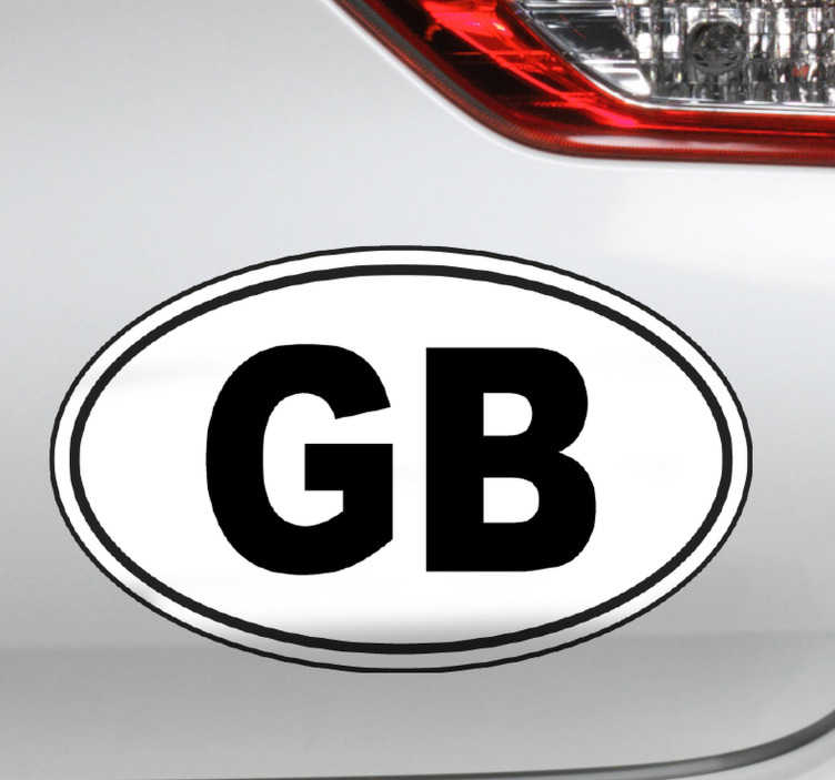TenStickers. GB Car Sticker. A fantastic car sticker, extremely useful when driving abroad! Personalised stickers.