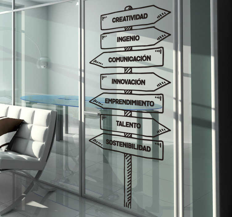 TenVinilo. Vinilo frase normas de la oficina empresa motivación. Vinilo de frases para negocios ideales para mantener tu espacio de trabajo y los trabajadores de la oficina de una forma motivada.