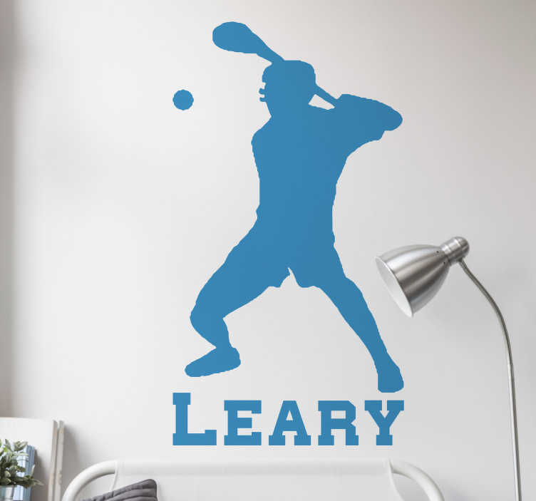 TenStickers. Hurling Player wall decor. If you are a hurling player then this sports sticker is perfect for you. Decorate your home showing your passion for this sport!