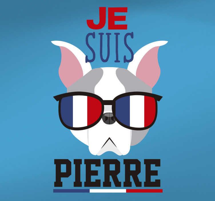 TenStickers. Sticker Drapeau Drapeau Français personnalisable. Soyez vous-même … Et offrez-vous le sticker personnalisable qui vous affirmera définitivement. Laissez-vous tenter par le sticker français Je suis … !