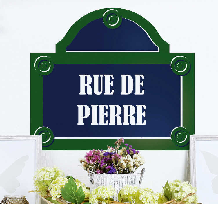 TenStickers. Stickers Monde Rue de Paris. Une Rue qui porte votre nom? Oui, Oui c'est possible grâce à notre Sticker Mural du Monde Personnalisable. Livraison Rapide. Sur Mesure.