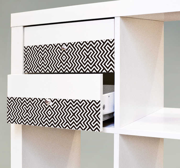 TenStickers. Autocolantes Ikea geometrico preto e branco. Vinil autocolante para móveis com desenhos abstratos ideal para dar um toque mais elegante e original à sua casa. Medidas personalizáveis.