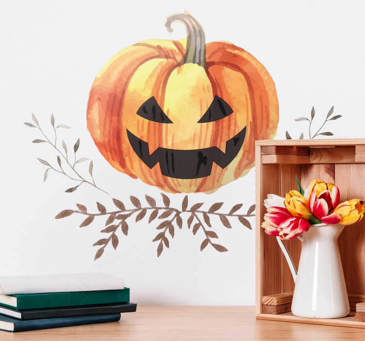 TenStickers. Jack o Lantern Wall Sticker. An amazing Jack o Lantern wall sticker, perfect for your home this Halloween! Discounts available.