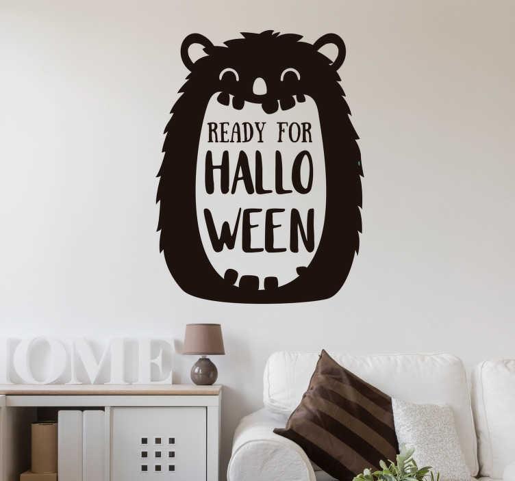 TenStickers. Ready for Halloween sticker. Kom alvast in de Halloween stemming met deze muursticker met de tekst Ready for Halloween. Pas de kleur en afmetingen geheel naar eigen wens aan.