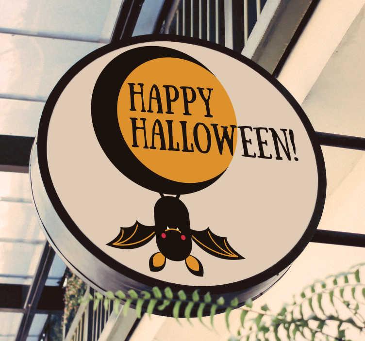TenStickers. Happy Halloween sticker. Creëer een feestelijke sfeer in uw bedrijf met deze Happy Halloween etalage sticker. De afmetingen zijn geheel naar eigen wens aan te passen.