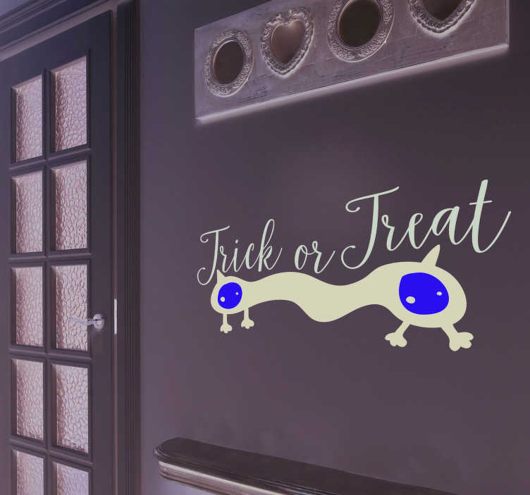 TenStickers. Trick or Treat Halloween Wall Decal. Decorate your home this Halloween with this superb Trick or Treat wall sticker! 10,000 satisfied customers.