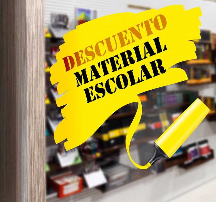 TenVinilo. Vinilo personalizable librería trazo rotulador. Llamativo fluorescente de color amarillo, decora con este Adhesivo como si hubieses rayado la pared dándole una tonalidad vistosa.