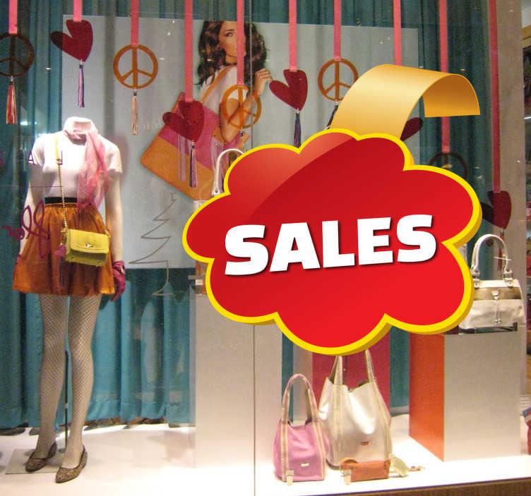 Tenstickers. Anpassningsbar försäljningsstämpel. Upptäck ett sätt att dekorera din butik som på den ena sidan skulle förbättra utseendet på din butik och kommunicera dina erbjudanden till dina kunder. Snabb leverans.