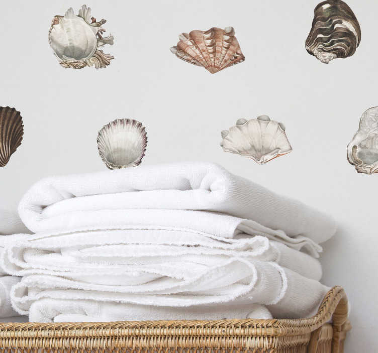 TenStickers. Seashells Wall Sticker Collection. Bring the seashells to you with this fantastic collection of wall stickers! Sign up for 10% off.