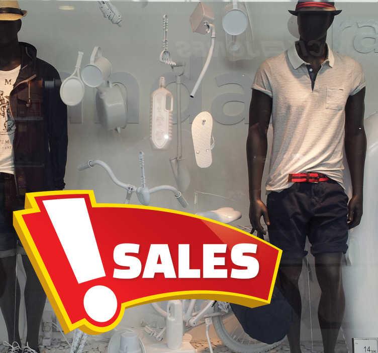 TenStickers. Angebot Banner Aufkleber. Dekorieren Sie Ihr Schaufenster mit diesem Aufkleber und informieren Sie Kunden über Rabatte und Aktionen.