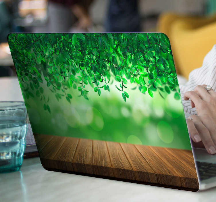TenStickers. Laptop sticker 3D natuur. Deze natuur sticker is een originele manier om uw laptop te decoreren. Afmetingen aanpasbaar naar eigen wens. Express verzending 24/48u.