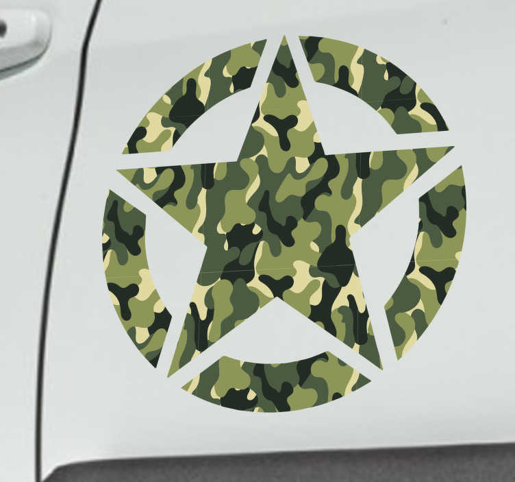 TenStickers. Military Star Vehicle Sticker. Pay homage to the military with this fantastic vehicle sticker! Easy to apply.