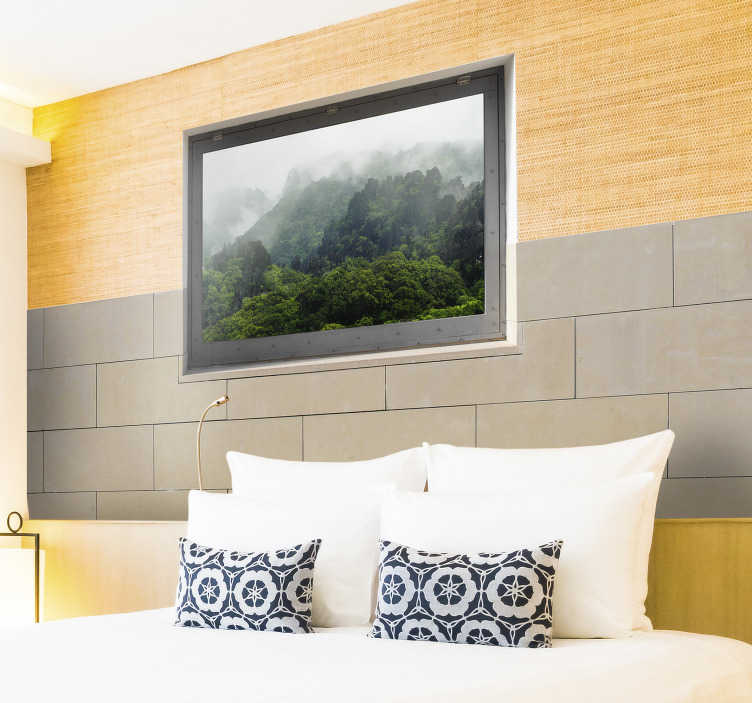 TenStickers. Autocolante sala de estar moldura. Adesivos personalizáveis e decorativos para ter a casa como sempre sonhou. Autocolantes especiais e originais para dar uma nova vida ao seu lar.