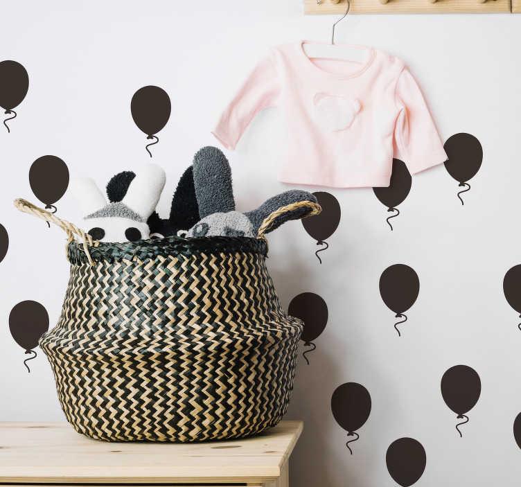 TenVinilo. Vinilo infantil motivos globos. Original vinilo adhesivo formado por un patrón de 25 globos monocolor ideales para una habitación infantil. Atención al Cliente Personalizada.