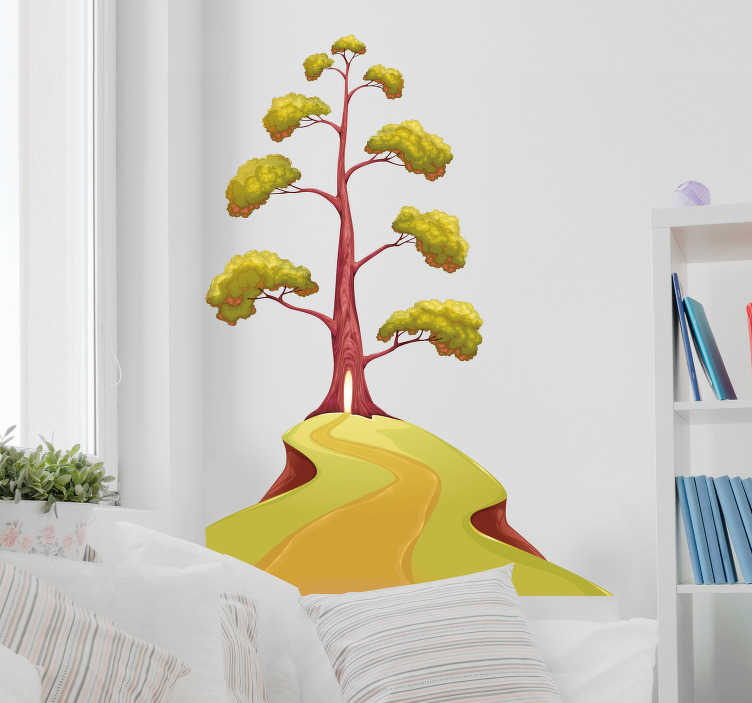 TenStickers. Magisk trævæg klistermærke. Dekorere dit hjem med et strejf af magi, takket være denne fantastiske træ-tema vægmærkat!