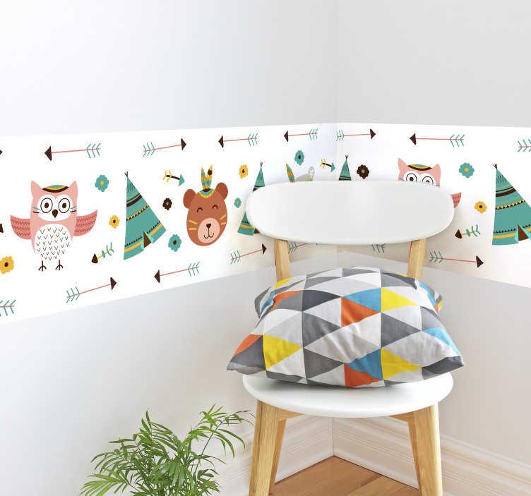 TenStickers. Sticker Chambre Enfant Bébé Indien. Découvrez notre tout nouveau sticker enfant pour pouvoir décorer votre maison comme vous le désirez. +10.000 Clients Satisfaits.