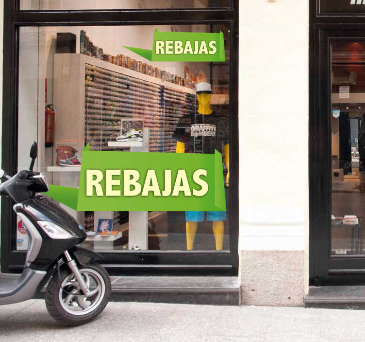 TenStickers. Customizable Rectangle Offer window sticker. Find an original way of decorating the window of your shop with our customizable sticker that you can adapt to communicate the way you want with your customers. Fast Delivery.
