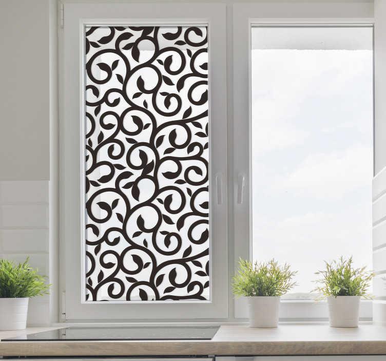 Tenstickers. Fönster fönsterklistermärke. Dekorativa klistermärken med mönster för att dekorera ditt hem, i vilken dévision eller slät yta som helst.