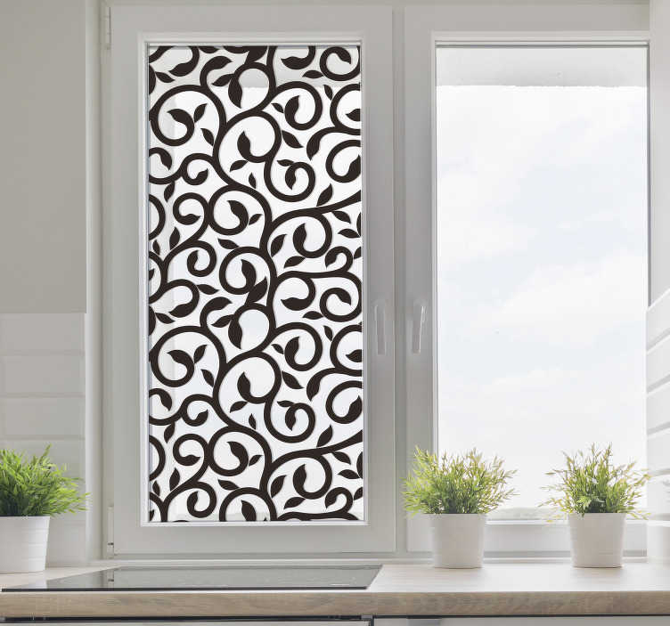 TENSTICKERS. 窓のステッカー. あなたの家を飾るための模様付きの装飾的なステッカー。
