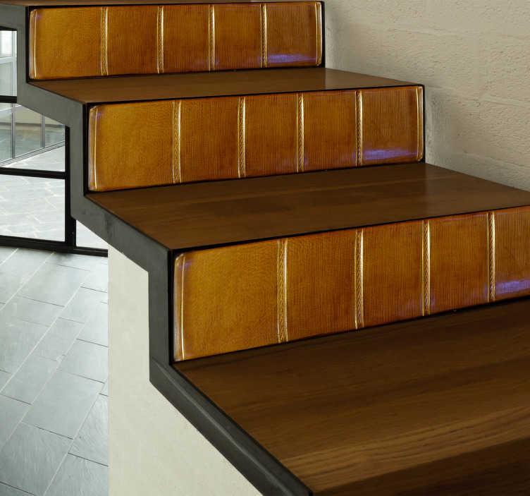 TENSTICKERS. 本の階段壁の壁のステッカー. あなたの家のための装飾的なステッカー。あなたの家に新しいインテリアと人生を与えてください。
