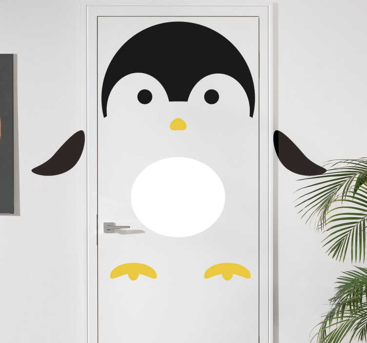 TenStickers. Penguin Door Sticker. Add a penguin to any room in your house with this fantastic door sticker! Choose your size.