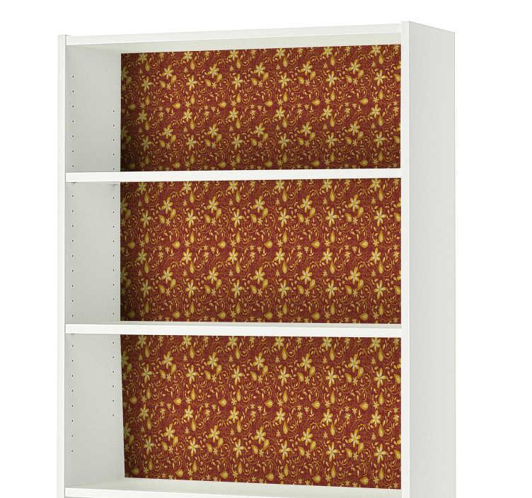 TenStickers. Sticker Meuble Motif Baroque. Changez vos meuble avec notre sticker ikea pour décorer de façon personnelle votre intérieur et profiter du style baroque de cet autocollant meuble.