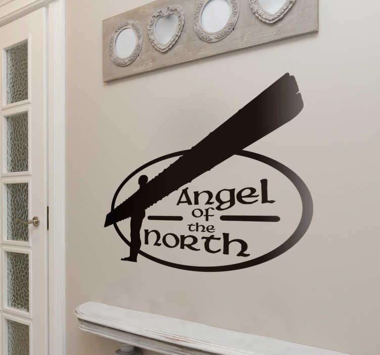 TenStickers. 北方天使剪影贴纸. 用这个奇妙的贴纸表达您对北方天使的爱!北方的每个人都是天使。售价1. 99英镑起。