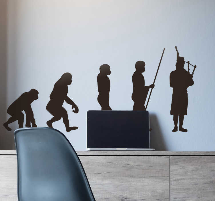TenStickers. Scotsmans Evolution Wall Sticker. Decorate your wall with some humour thanks to this fantastic wall sticker! Choose your size.