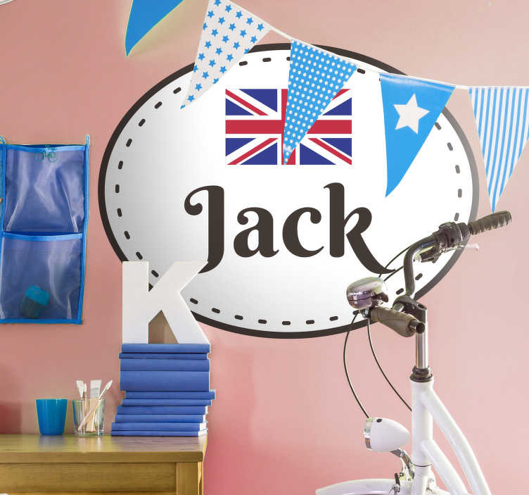 TenStickers. Union Jack Customisable Wall Sticker. Show your support for your country with this fantastically patriotic wall sticker! Choose your size.