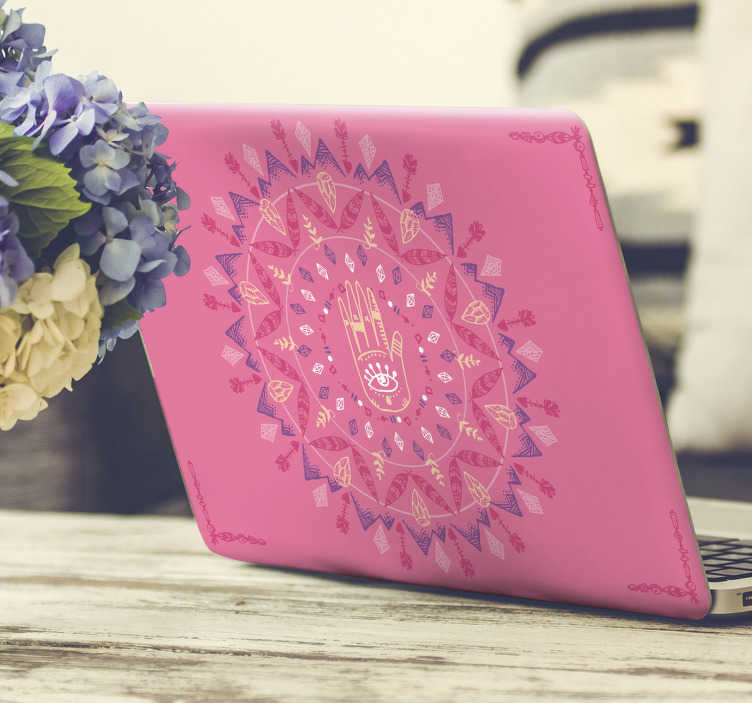 TenStickers. Psychedelic Laptop Sticker. Add some psychedelia to your laptop with this superb sticker! Extremely long-lasting material.