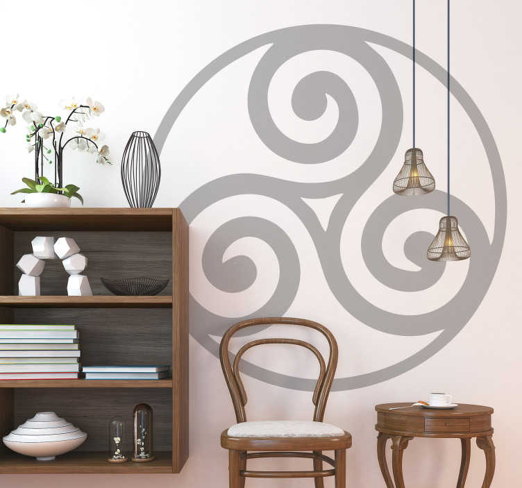 TenStickers. Celtic Design Wall Sticker. Decorate your wall with this fantastic celtic design! Anti-bubble vinyl.
