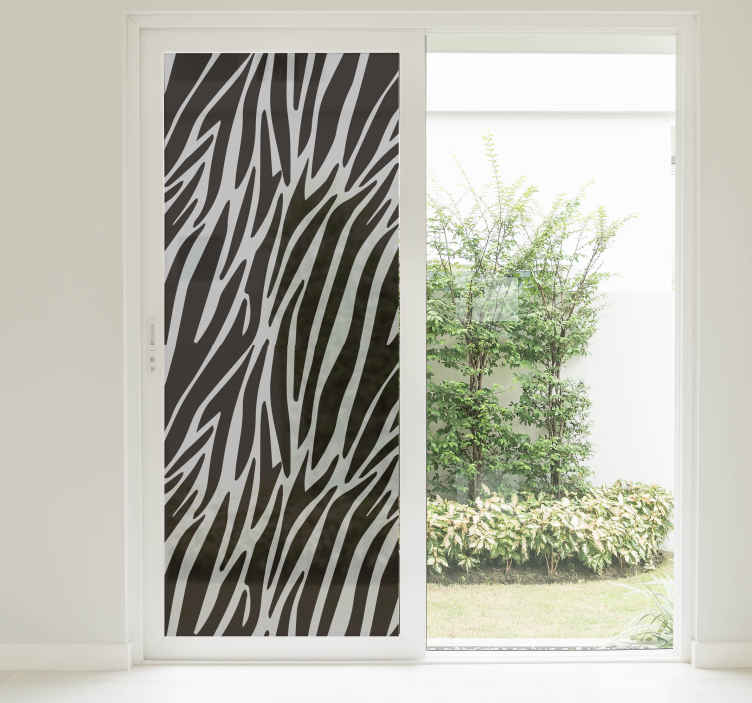 TenStickers. Zebra Print Window Sticker. Add some zebra themed decor to your window, thanks to this fantastic translucent sticker! Anti-bubble vinyl.