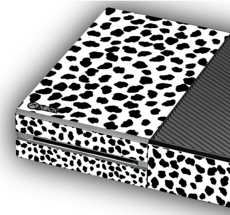 TenStickers. Autocolantes ornamentais padrão de jaguar. Vinil autocolante com anmais selvagens para personalizar a tua xbox. Decora os teus objetos do dia-a-dia com os nossos adesivos.