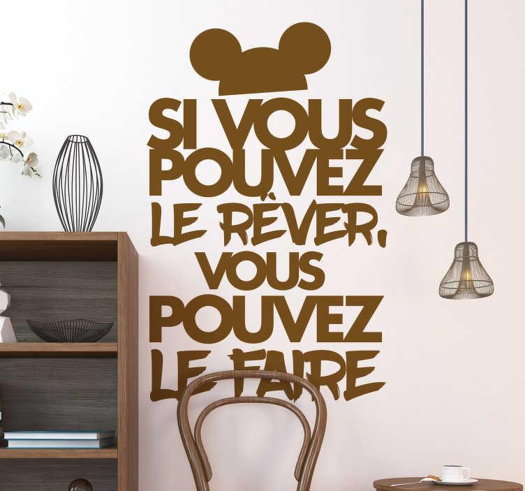 TenStickers. Sticker Maison Citation Motivation Walt Disney. Découvrez notre nouveau sticker mural texte pour votre motivation avec une phrase de Walt Disney pour votre décoration intérieur de votre maison. Application Facile.