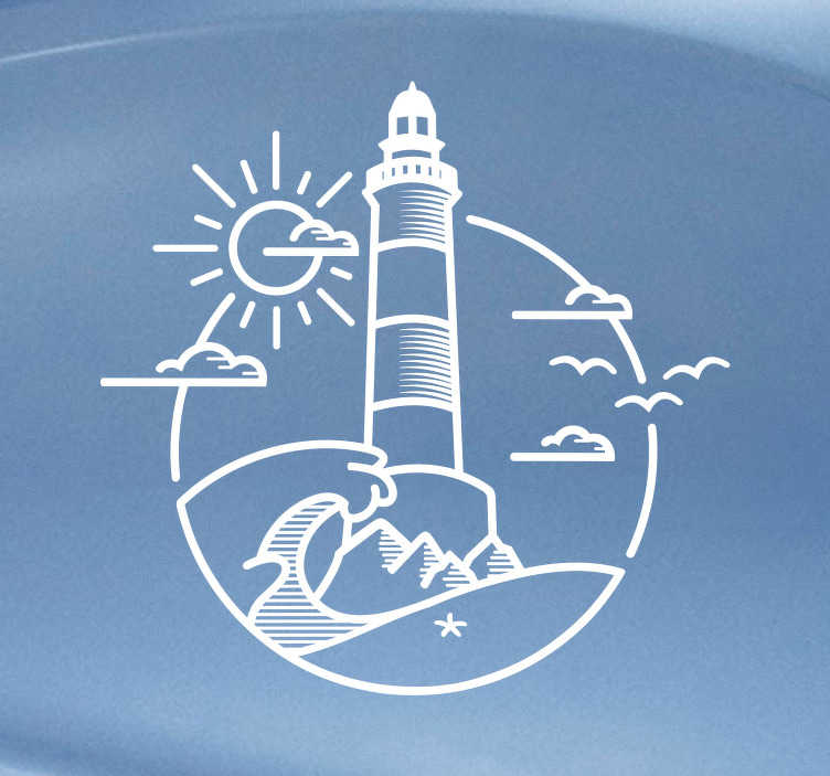 TenStickers. Lighthouse Illustration Sticker. Decorate your vehicle with this nautically themed car decal! Discounts available.