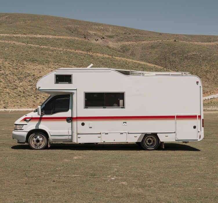 TenStickers. Autocolante para motas linhas caravana. Autocolantes decorativos com linhas ideais para decorar qualquer superficie lisa e limpa. Material de alta qualidade.