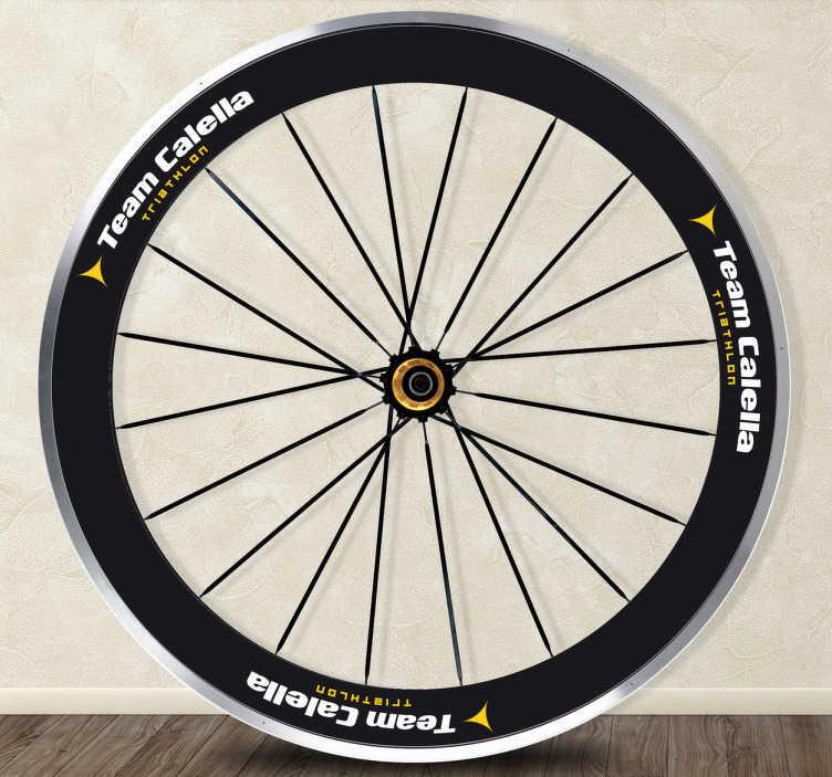 TenStickers. Sticker per bici Team Calella Logo. Sticker decorativo con il logo del Team Calella, logo ideale per decorare le ruote della tua bici.