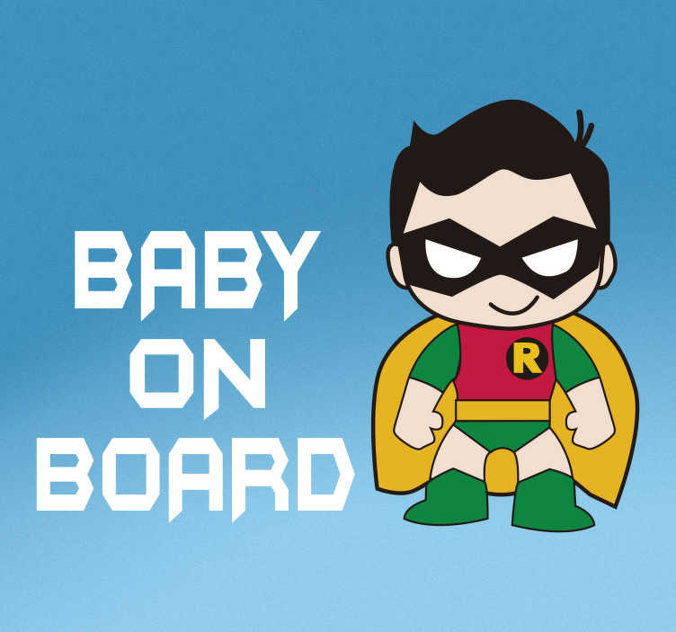 TenStickers. Robin Baby on Board Sticker. Tell everyone that you have a baby on board with this fantastic car sticker! Easy to apply.